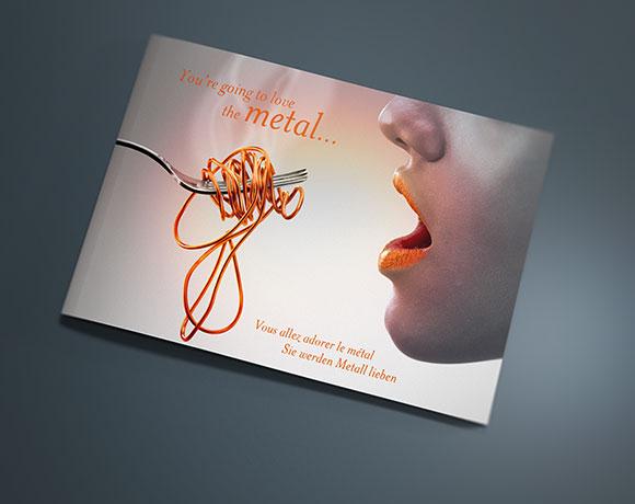 ASCENDO, impression effet métal coloré