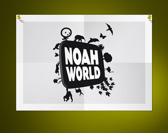 NOAH WORLD, logo & identité visuelle