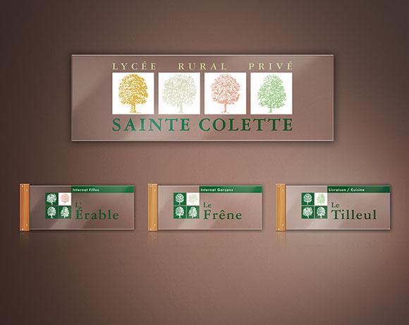 SAINTE COLETTE, logo & signalétique